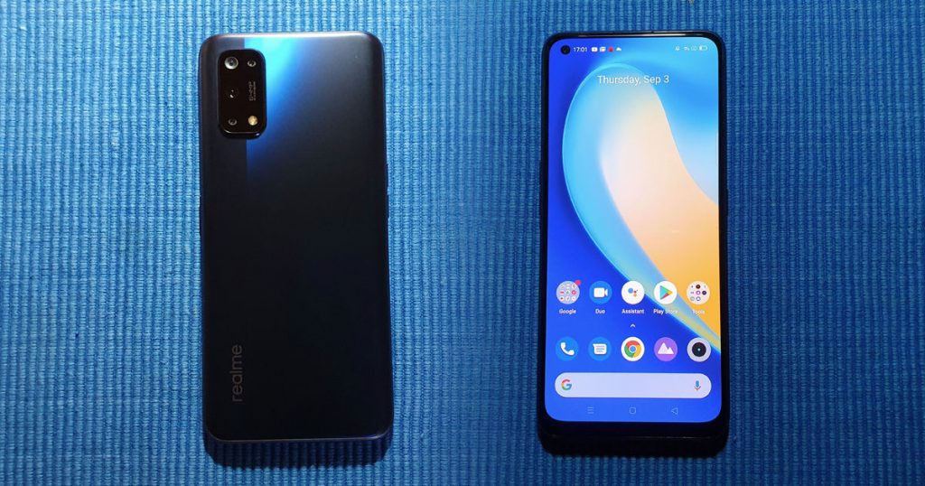 Realme 7 Pro front and bock