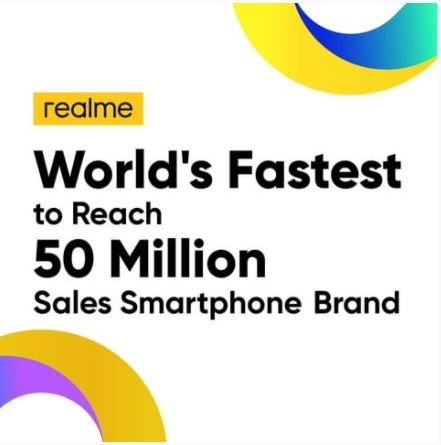 Realme leapfrogged growth in 2020 with its 50 million units sold and 132% industry wide highest QoQ growth rate!