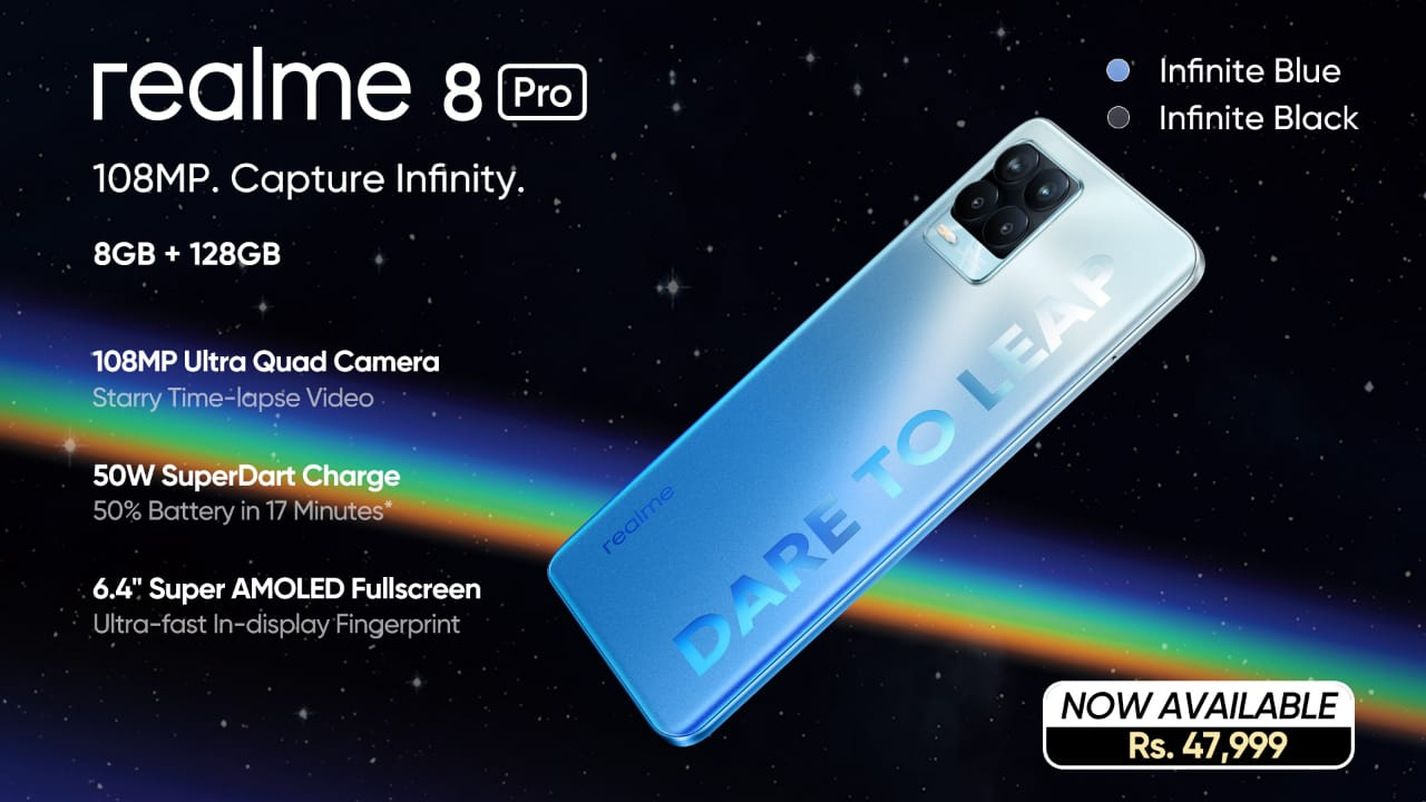 Infinite Clarity and Outclass Imagery Now Available in Pakistan with the realme 8 Pro