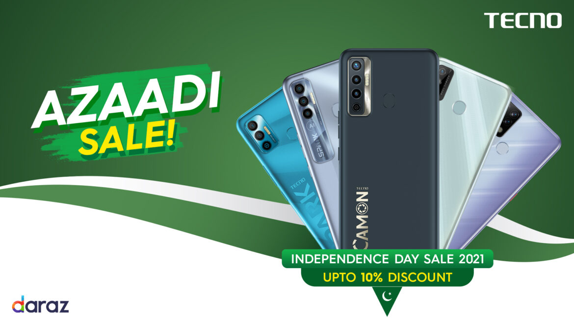 TECNO all set for Daraz Independence Day Sale 2021